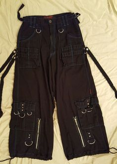 TRIPP NYC DAANG GOODMAN Industrial Raver Goth Jeans Pants Baggy Size S 30-32 #TrippNYC #Cargo