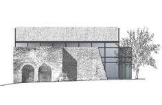 Spazio Consonanti · Restauro della chiesa altomedievale di San Donato Architecture Renovation, Architecture Collage, Architecture Images, Industrial Architecture, Architecture Visualization, Architecture Drawings, Facade Architecture, Facade Design, House Design