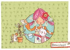 Emily Button helps at the allotment. Emily Button is a real live rag doll who, with her friends Bobble & Mousey the Mouse, has many adventures solving problems along the way. Girls Dream, Problem Solving, Badge, Little Girls, Clip Art, Buttons, Allotment, Dolls, Live