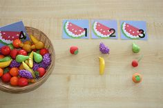 using counters and calendar numbers for counting