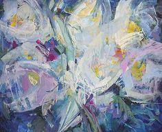 Snowdrops flower by Aleksey Sokolov - oil painting