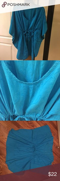 Bathing suit cover up Turquoise Bathing suit Cover up. southern frock Swim Coverups