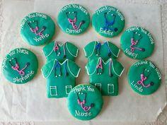 Nurse decorated cookies Made by Pastry Chef Yolanda- www.Facebook. com/PastryChefyolanda