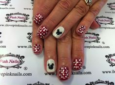 Minnie Mouse Soft Gel Nails