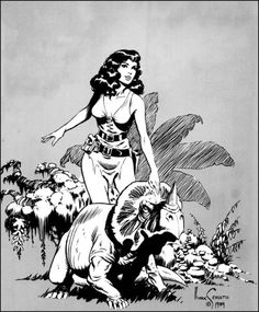 Mark Schultz& cover for Xenozoic Tales (April and a nice drawing of Hannah Dundee from the inside front cover. Comic Book Artists, Comic Artist, Comic Books Art, Ink Illustrations, Illustration Art, Steampunk, Pulp Art, Dundee, Vintage Comics
