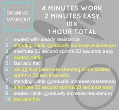 My newest spinning workout! #move #fitfluential