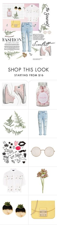 """""""Untitled #31"""" by alena-sky ❤ liked on Polyvore featuring Madewell, Illesteva, Topshop, Wyld Home, Silhouette, Furla, contestentry and nyfwstreetstyle"""