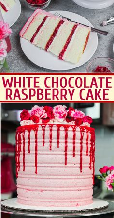 White Chocolate Raspberry Cake: Delicious Recipe from Scratch This white chocolate raspberry cake is the perfect balance of tart & sweet! Its fluffy white cake layers and tart raspberry filling make it irresistible! Delicious Cake Recipes, Best Cake Recipes, Cupcake Recipes, Yummy Cakes, Sweet Recipes, Cupcake Cakes, Dessert Recipes, Shoe Cakes, Dessert Food