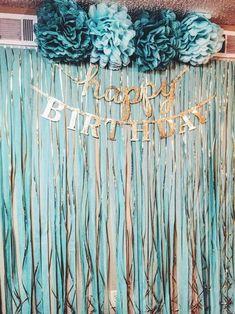 Diy Birthday Backdrop, Birthday Party Decorations Diy, Gold Birthday Party, 22nd Birthday, Birthday Diy, Birthday Ideas, Party Kulissen, Party Ideas, Instagram
