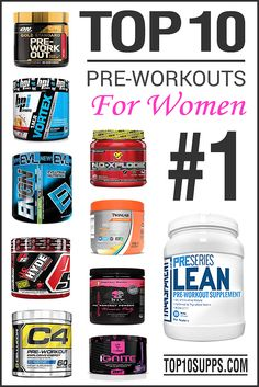 Source: http://top10supplements.com/best-pre-workout-for-women/  These are the top 10 pre workout supplements that are designed specifically for women. Get a huge energy and endurance boost during your workouts after using one of these products.