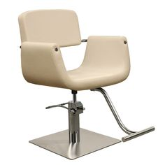 The Corsa styling chair features a gently scooped seat with floating back, square brushed stainless steel base, and T-Shaped footrest. Part of our line of Minerva salon equipment, this styling chair comes with a 1 year warranty on the chair top and 2 year Salon Styling Chairs, Salon Chairs, Brown Leather Recliner Chair, Swivel Rocker Recliner Chair, Outdoor Dining Chair Cushions, Upholstered Dining Chairs, All Purpose Salon Chair, Minerva Beauty, Small Grey Bedroom
