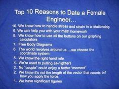 Top 10 Reasons to Date a Female Engineer… # Pin++ for Pinterest #