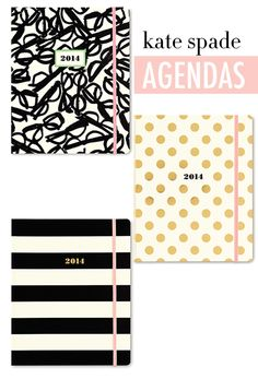 NEW Kate Spade Agendas - love the polka dots and stripes!!