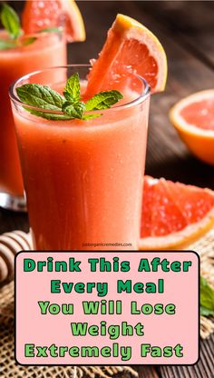 Grapefruit juice benefits - Drink This After Every Meal You Will Lose Weight Extremely Fast Weight Loss Drinks, Weight Loss Smoothies, Quick Weight Loss Tips, How To Lose Weight Fast, Loose Weight, Reduce Weight, Coconut Benefits, Benefits Of Grapefruit Juice, Grapefruit Smoothie