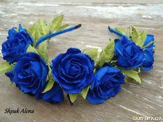 Ободок Синие дали