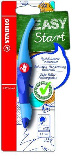 STABILO EASYoriginal - Stylo roller ergonomique rechargeable bleu - Droitier