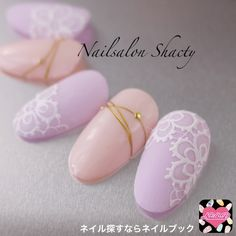 pink and purple nail art