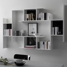 Amazing Modular Furniture For Small Spaces With Extraordinary Design And Style… Bookshelves For Small Spaces, Wall Bookshelves, Furniture For Small Spaces, Decorating Small Spaces, Decorating On A Budget, Creative Bookshelves, Modular Furniture, Furniture Decor, Bedroom Furniture