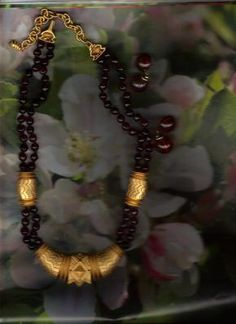 Amber with Gold Tone Necklace Collector Item Franklin Mint $105.00