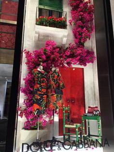 """DOLCE&GABBANA, New York, """"Sarah i do think you should trim your bougainvillea before it will get away from you"""", pinned by Ton van der Veer"""