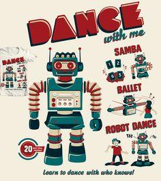 Estampa 'Dance with me' no Camiseteria.com. Autoria de Camila Matos http://cami.st/d/51959