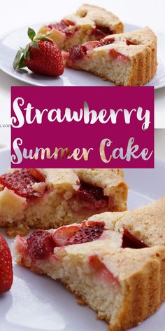 This eggless strawberry cake is a super simple cake recipe with very few ingredients. If you want to bake something simple and delicious using seasonal fresh strawberries, it is a perfect recipe. #baking #cake #strawberry #summer #recipes #sweet #dessert