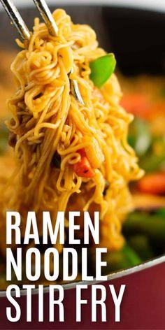 easy ramen noodle stir fry recipe - making this for dinner one day this week! easy ramen noodle stir fry recipe - making this for dinner one day this week! Ramen Noodle Recipes, Stir Fry Recipes, Cooking Recipes, Easy Ramen Recipes, Chinese Ramen Noodles Recipe, Recipes With Rice Ramen, Recipes With Mr Noodles, Stir Fry Using Ramen Noodles, Yummy Noodles