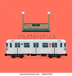 Cool detailed vector design elements on rapid transit items subway train car and underground tube entrance. Ideal for city transport infographics and graphic design - stock vector