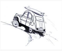 Scetch of Beach 2cv. (I don't know the artist)