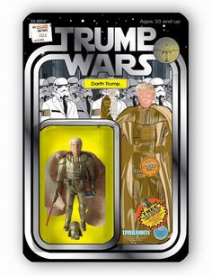 Darth Trump (Gold Edition) 3 3/4 inch Bootleg Action Figure by TIMEBANDITS x Special Ed Toys