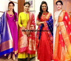 Do You Have These 6 Gorgeous Dupattas In Your Wardrobe? Long Gown Dress, Sari Dress, Anarkali Dress, Anarkali Suits, Saree Gown, Long Dresses, Indian Long Dress, Indian Gowns, Indian Outfits