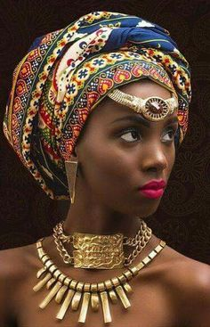 Beautiful 49 head wraps for African American women Natural Afro Hairstyles African American Beautiful Women wraps African Dresses For Women, African Men, African American Women, African Beauty, African Style, American Art, African Scarf, African Attire, Kitenge