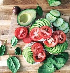 "TILDA ❂ VEGAN ❂ 19 on Instagram: ""When you get the perfect avocado (trust me this was a creamy one) Rice cakes+avo+tomatoes+black pepper for lunch today. Sah good."""