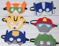 SET OF 6 Rescue Bots Party Masks Rescue Bots by KSFeltFaces