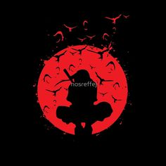 Itachi Silhouette in the red moon with Grunge effect is Available as T-Shirts… Naruto Eyes, Naruto Art, Anime Naruto, Manga Anime, Naruto Tattoo, Anime Tattoos, Wallpaper Naruto Shippuden, Naruto Wallpaper, Itachi Uchiha