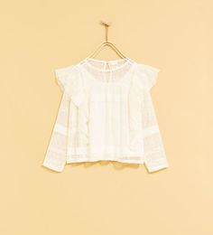 ZARA - KIDS - LACE T-SHIRT WITH FRILL