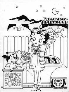betty boop coloring pages   BETTY BOOP COLORING BOOK