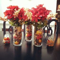 Awesome Diy Fall Centerpiece Ideas For Your Home Decor. If you are looking for Diy Fall Centerpiece Ideas For Your Home Decor, You come to the right place. Dollar Tree Fall, Dollar Tree Decor, Dollar Tree Centerpieces, Bottle Centerpieces, Holiday Centerpieces, Thanksgiving Decorations, Halloween Decorations, Christmas Decorations, Christmas Trees
