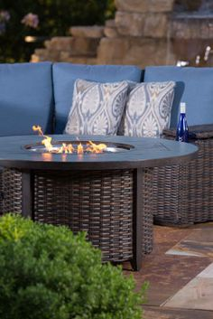 How to use a fire pit to help you extend your living space. Recipes you can use, and tips on outdoor cooking. Outdoor Sofa, Outdoor Living, Outdoor Furniture Sets, Outdoor Decor, Patio Store, Fire Pits, Outdoor Cooking, Backyard Patio, Quality Time