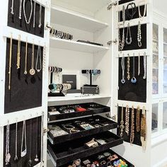 Jewelry Cabinet with Pull Out Jewelry Trays, Contemporary, Closet