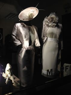 Our window tonight ! Gorgeous Taupe & Silver Chic and stylish outfits for all Mother of the bride. Available at: http://www.bridalrooms.co.uk or http://www.facebook.com/BridalRooms
