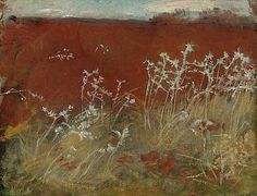 John Singer Sargent  Thistles 1883  Sargent makes what is really a 'noxious weed' on the land look like poetry.