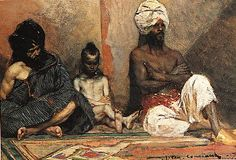 Benjamin-Constant, Jean-Joseph - Arabes assis, Musée d'art Dahesh, New York via Wikipédia