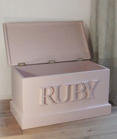 The 'Souza' Personalised Blanket Box / Toy Box / by VBXDesigns, £195.00