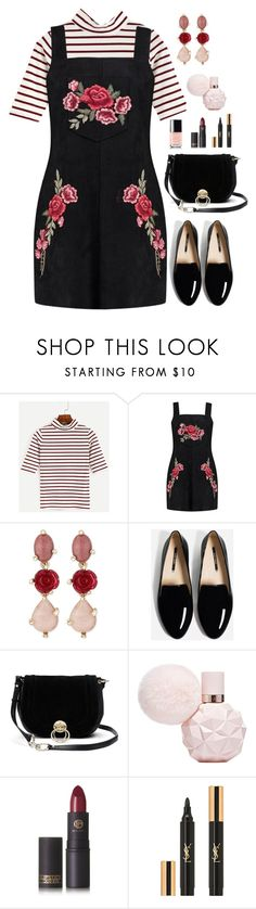 """""""Pinafore Style"""" by gemique ❤ liked on Polyvore featuring Boohoo, Oscar de la Renta, Diane Von Furstenberg, Lipstick Queen and Yves Saint Laurent"""