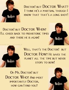 Charlie + The Doctor = poetry.