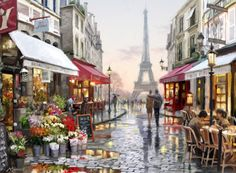 Stadsgezicht Parijs 85x113