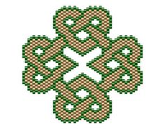 Celtic Square Knot Pendant peyote pattern by NaturalWondersbyCari