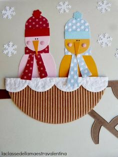 Possible winter crafts for grandparents - snowbirds Christmas Crafts For Kids, Kids Crafts, Christmas Diy, Christmas Cards, Christmas Ornaments, Art Activities For Kids, Winter Activities, Christmas Activities, Winter Art Projects