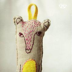 diEnes / zvieratko- cute plush toy, animal soft doll art, handmade